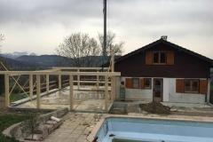 Extension de maison bois a La Roche sur Foron