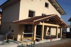 Extension maison bois a Evires